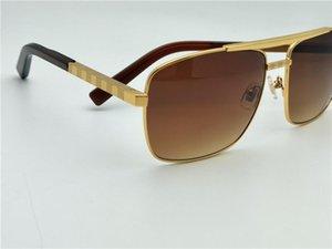 Erkekler güneş gözlüğü tutum sunglass altın çerçeve kare metal çerçeve vintage stil açık tasarım klasik modeli Z0259U