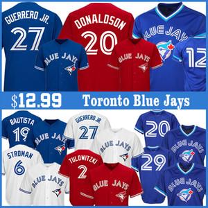 27 Vladimir Guerrero Jr. baseball maglie 19 Jose Bautista 29 Joe Carter 11 Kevin Pilastro 12 Roberto Alomar Jersey