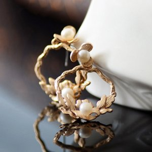 20190825 New Pearl Earrings Small Flower Accessoires
