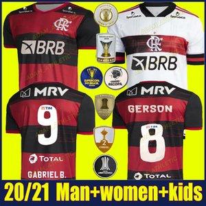 2020 Flamengo Fußball-Trikot DE Arrascaeta GABRIEL Barbosa Fußballhemden Kinder Kit GERSON B.HENRIQUE Uniform Camisa Flamengo Feminina 20/21