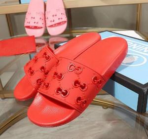 2020 Lüks erkekler Kadınlar G Sandalet kadın deri nedensel Ayakkabı Plaj Slide Yaz Moda Düz Sandalet Terlik Flip Flop boyutu 35-46 kutusu