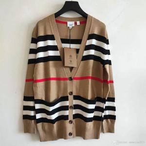 Milan Runway Sweater 2019 V-Ausschnitt Langarm High End Jacquard Strickjacke Frauen Designer Sweater 092008