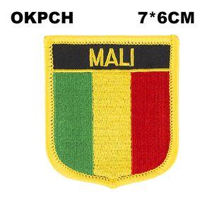 Drapeau du Mali de fer à broder sur les correctifs de broderie de correction pour les vêtements PT0115-S
