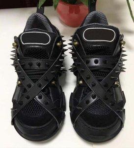 Шипы Flashtrek дизайнер кроссовки с шипами съемные шипы мужские Роскошные дизайнерские туфли мода повседневная дизайнерская Женская обувь кроссовки r2