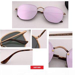 2019 top designer Fashion Women BLAZE Style HEXAGONAL Metal Sunglasses Vintage Classic Rivets Brand Design Sun Glasses Oculos De Sol gafas