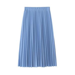 2019 New Fashion popular women's Chiffon pleated half-skirt with waist closed and skinny mid-skirt with pleated half-skirt