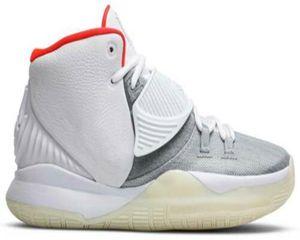 Kyries 6 Zapatos platino por Usted baloncesto de los hombres con la caja de puros de calidad superior Irvings 6 resplandor en el zapato del deporte con las zapatillas de deporte oscuras US7-US12