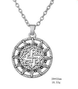 빈티지 바이킹 부적 펜던트 종교 Supernature 노르딕 룬 목걸이 Viking Link Chain Jewelry