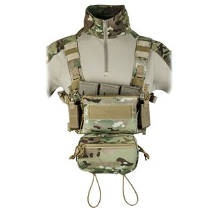 Tactical Micro Chest Rig Modular H Harness d3cr Sack engraçado Pacote Pouch Combate Vest 5,56 Mag Airsoft
