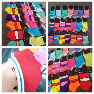 Moda Quick Dry Adulto Meias Meninos Da Menina Meias Curtas Cheerleader Meias Esportivas Adolescentes Tornozelo Meia Multicolors com Cartão