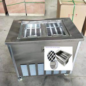 Venta fácil de operar la máquina popsicle modo sola máquina popsicle popsicle acero inoxidable molde de la máquina includes2 y refrigerante