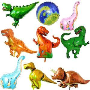 Tyrannosaurus raptor triceratops dinosauro Jurassic grandi dimensioni palloncini ragazzo compleanno festa decor baby shower elio palloncini per bambini giocattoli