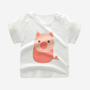Fashion Cotton sister brother Children Kids Cartoon Print T shirts Tops Clothing Tee
