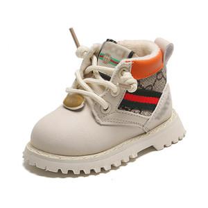 INS botas zapatos zapatos del niño del bebé del invierno de bebé del niño de arranque botas de nieve botas de zapatos infantiles del tobillo