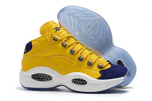nuevo diseñador de zapatos Allen Iverson Pregunta Mid Q1 Calzado casual Respuesta 1s Zoom para hombre Zapatillas deportivas de lujo Elite talla 8-12