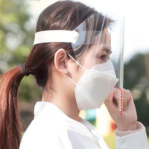 DHL de envío de la mascarilla de seguridad transparente protector de la cara de pulido de la máscara de pantalla visera de protección de ojos anti-vaho máscara protectora Prevenir la saliva Splash