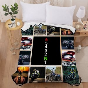 Racing Car Soft Blanket 150*200 CM Size Boys Bed Home Decor Polyester Coral Fleece Fabric