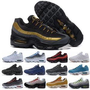 Großhandel Designer Top Qualität Mann OG Laufschuhe schwarz gold weiß Laser Frauen Rabatt billige Schuhe Luftkissen Mode Größe 36-45