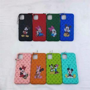 Mode Cartoon cas de téléphone de la souris pour iPhone micky 11 pro max XS MAX couverture XR 7plus cas pour iPhone XS X 6 6s 7 8 plus de cas de luxe Fundas