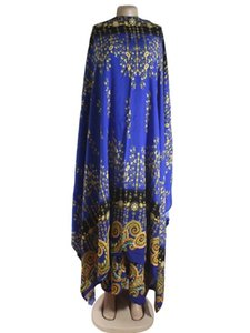 New African women clothing Design Bazin Dashiki Dress For Lady With big scarf