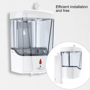 Automatic sabonete Líquido 700ml parede montada sensor automático de grande capacidade Sabonete Líquido Dispensers Banho Acessórios 100pcs OOA8167
