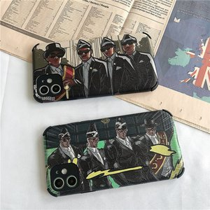 Fashion iphonex case11pro Max carry coffin iphonex brother 8plus trend new xr 8 8P 7 7P suitable for silicone mobile phone protection case