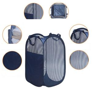 Grand carré Vêtements de rangement Panier à linge Maison de rangement pliant seau plein Sundries Jouets Organisateur Pliable Laundry Basket DH1225 T03