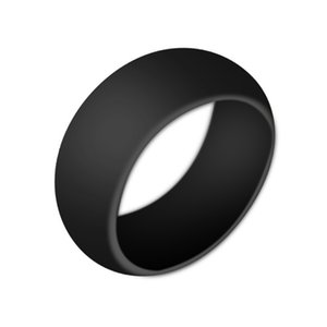 Hot sale Silicone Wedding Rings Women s Hypoallergenic O-ring Band Comfortable Lightweigh Men Ring Couple's Round Rings Fashion Jewelry Gif