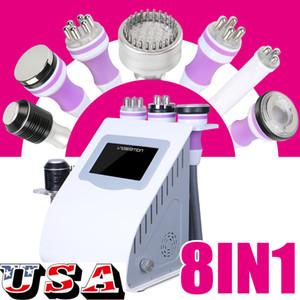 8in1 ultrasons 40K Cavitation radiofréquence RF Cavitation vide Micro Courant froid Marteau Photon Machine minceur Spa