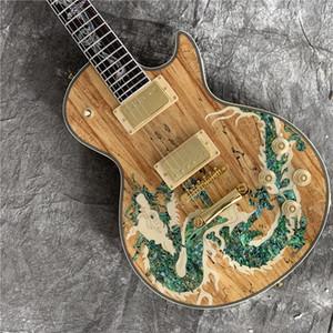 Ücretsiz kargo 2018 üretici lideri satış, yüksek kaliteli dragon rakam toptan top g özel gitar ve elektro gitar guitarra
