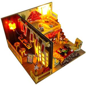 Cutebee Maison de poupée miniature Meubles Dollhouse bricolage miniature Chambre Maison Box Théâtre Jouets pour enfants Bricolage Dollhouse TD12 MX200414
