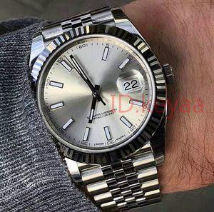 Acier inoxydable Luxe Mens Watch 41mm Montres Homme Date de 2813 mécanique automatique Juste Président Desinger Hommes Montres-bracelets