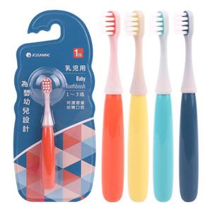 الأطفال فرشاة الأسنان طفل لطيف التدريب فرشاة الأسنان لينة حامل فرشاة الأسنان العناية بالفم لمدة 1-3 سنوات الاطفال الرضع