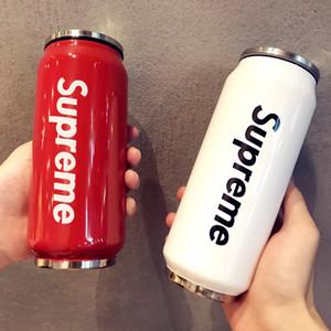 500ML 17 Unzen Mode Cola Shaped Wasserflasche von Coca-Cola Cup 304 Edelstahl-Vakuumschalen-Wasserflasche