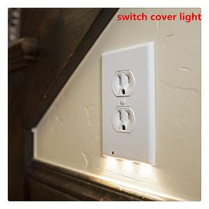 Steckdosenabdeckung mit LED-Nachtlichtern Schalterabdeckung Wandmontage-Sicherheitsleuchte mit Lichtsensor Großhandel