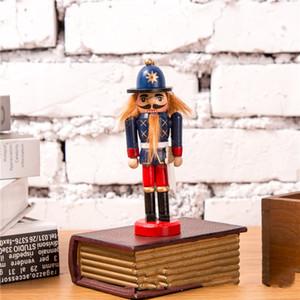 Новогоднее украшение Щелкунчик кукольный солдата 12см Вуд Солдат игрушки Рождественская елка украшения партии Kid Рождественский подарок DBC VT0378