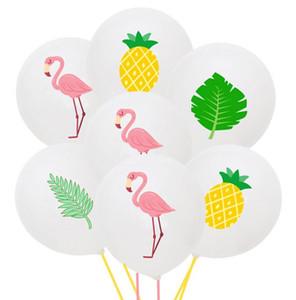 12 polegadas 2.8g Detalhes no abacaxi Flamingo Latex Feliz Aniversário Latex Balloon Macaron decoração do partido Verão