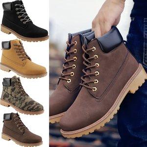 nueva llegada de los hombres ocasionales de las mujeres de la moda Martin botas no marca de color negro caliente ejército verde marrón tamaño 39-46