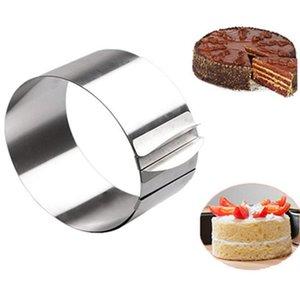 16-30CM Ayarlanabilir Paslanmaz Çelik Kek Kalıp Çerez Fondan Mousse Yüzük Pişirme Aracı Yuvarlak Bakeware Kek Dekorasyon Araçları