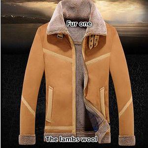 NEW Hot sale Fashion2017 new winterSpecial offer men's wear fur leather men's leather coat lapels male fur jacket
