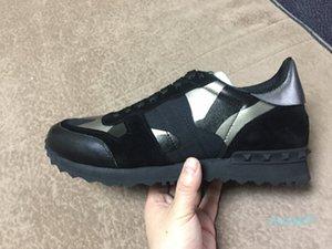 Размер 35-46 Женщины / Мужчины повседневная обувь камуфляж натуральная кожа Узелок пара ботинки звезды UniSex заклепок плоские туфли Z07