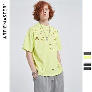2020 men fashion street t-shirt men 's Korean round neck summer top slim pure cotton men' s undershirt half sleeve men 's tre