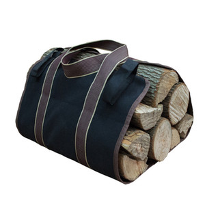 Firewood Bag Convenient Wood Storage Bag Firewood Log Carrier Portable Durable Canvas Tote for Storage Carrying Wood