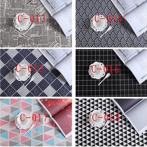 47 * 68 cm de algodón y lino Té de toallas impresión de la hoja vector de la servilleta absorción de agua Cena Paño Placemat 40 estilos ZZA1369