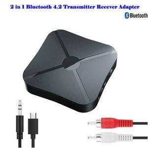 محول Bluetooth 2 في 1 Bluetooth 4.2 Receiver Transmitter 3.5mmJack للتلفزيون سماعات مكبرات صوت ستيريو محول