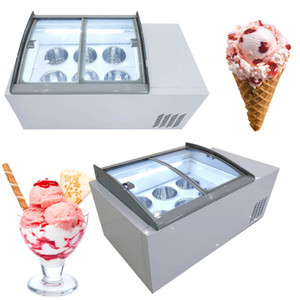 110V 220V New ice porridge cabinet commercial ice cream display cabinet for cold drinks shop store supermarket ice cream display cabinet