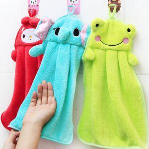 6 colori animali del fumetto mano bella decorazione per Bagno di desiderio salviette asciugamano morbido di corallo asciugamano bambini in pile asciugarsi dal sudore asciugamano appeso M1764