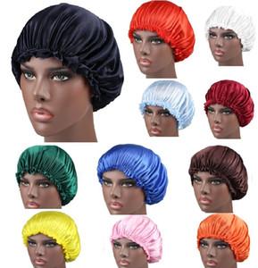 Nouvelle douche Cap Bonnet élastique femmes satin Chapeau Couvre-chef Beanies sommeil Cap dames cheveux couverture Accessoires cheveux HH9-3056