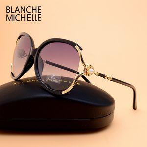 블랜치 미셸 2019 여성 선글라스 Polarisized Uv400 브랜드 디자이너 Yd9052004와 높은 품질의 그라디언트 태양 안경 여성 Oculos