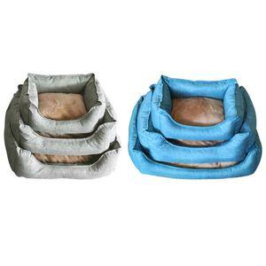 쿠션 공급 잠자는 플러시 천 하우스 소프트 강아지 새끼 고양이 방수 둥지 바구니 온난화 접이식 애완 동물 개 고양이 침대